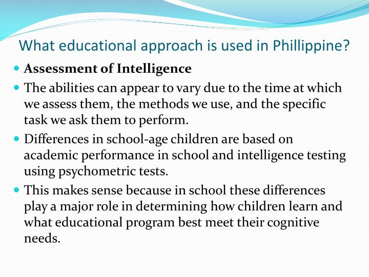 What educational approach is used in
