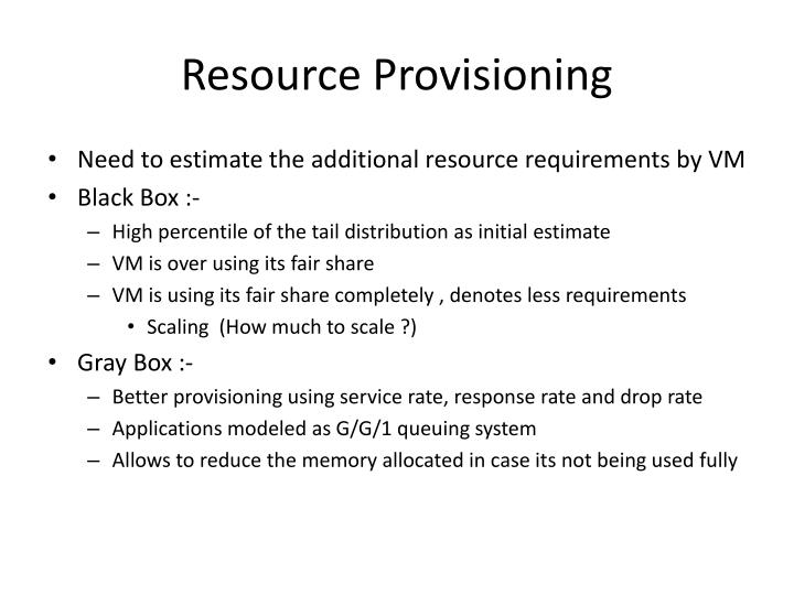 Resource Provisioning