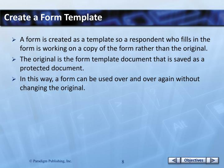 Create a Form Template