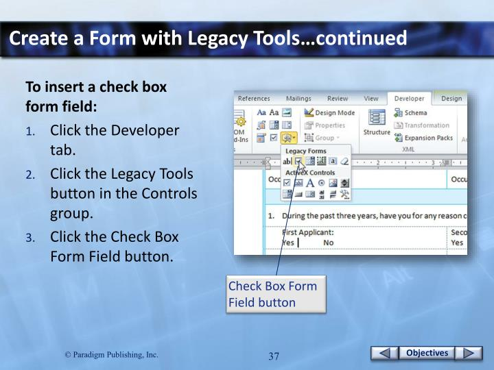 Create a Form with Legacy