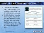 create a form with legacy tools continued1