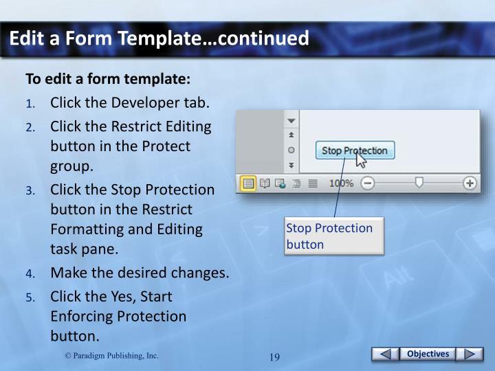 Edit a Form