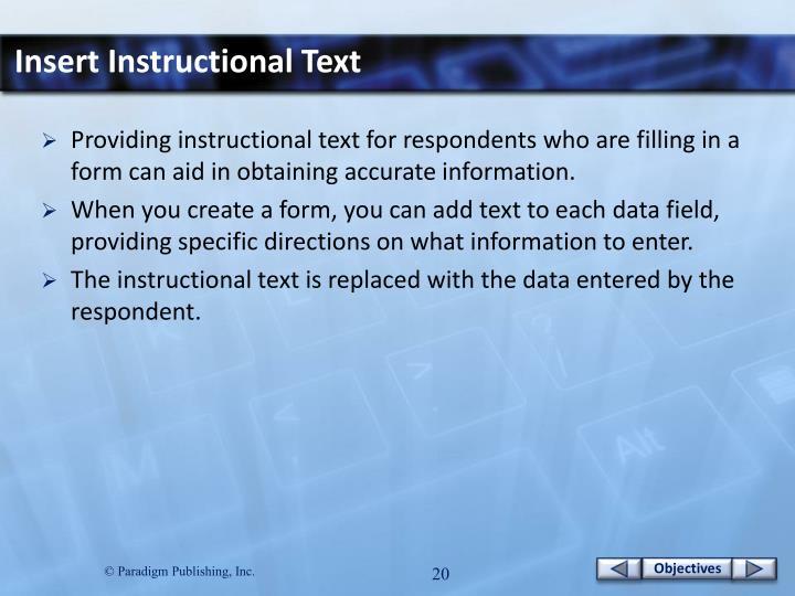 Insert Instructional Text