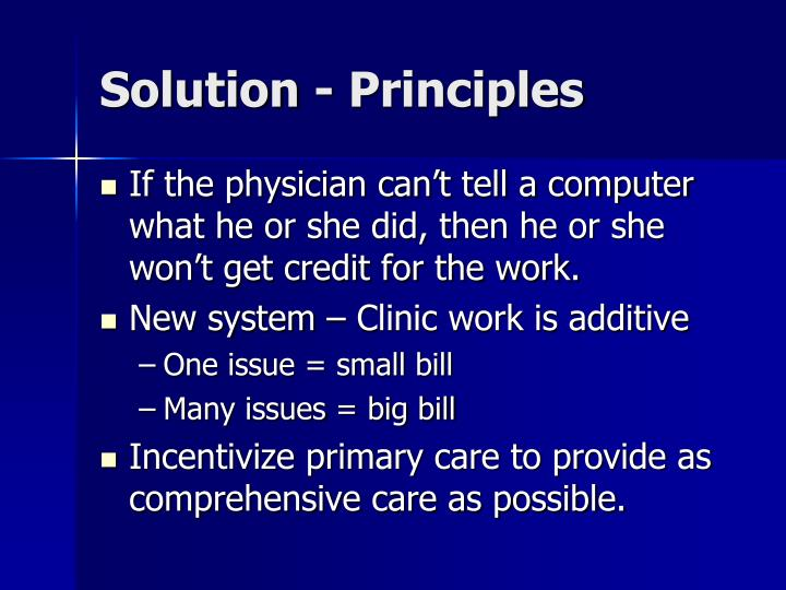 Solution - Principles