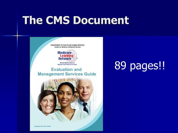 The CMS Document