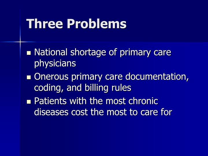 Three Problems