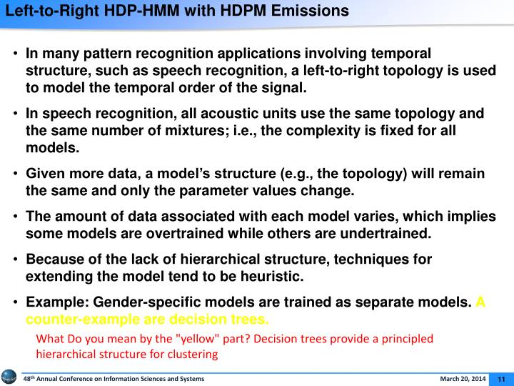 Left-to-Right HDP-HMM with HDPM Emissions