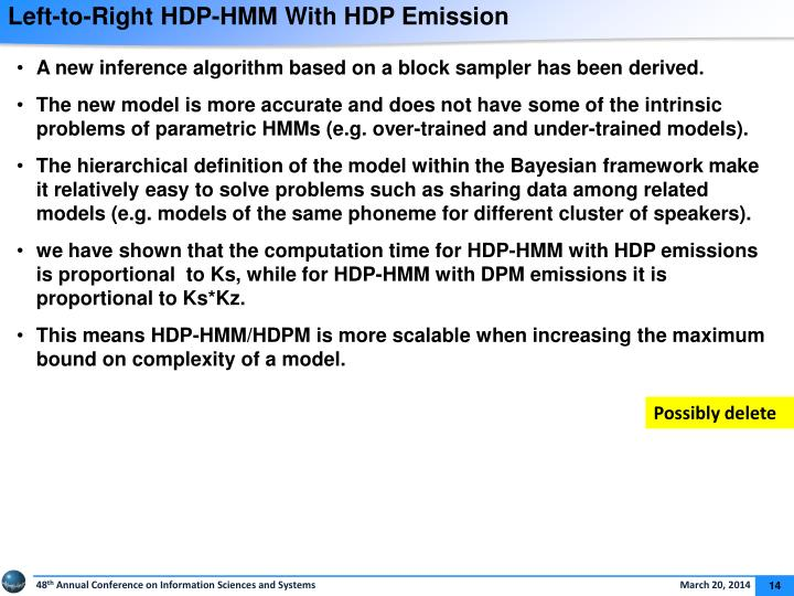 Left-to-Right HDP-HMM With HDP Emission