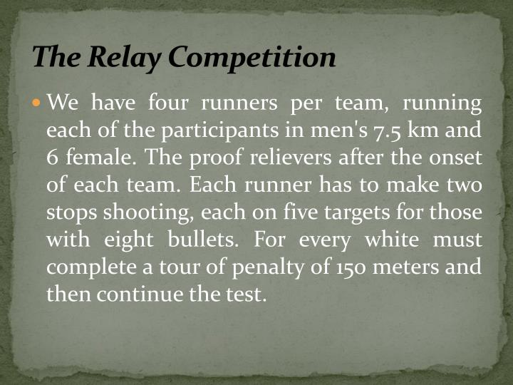 The Relay Competition