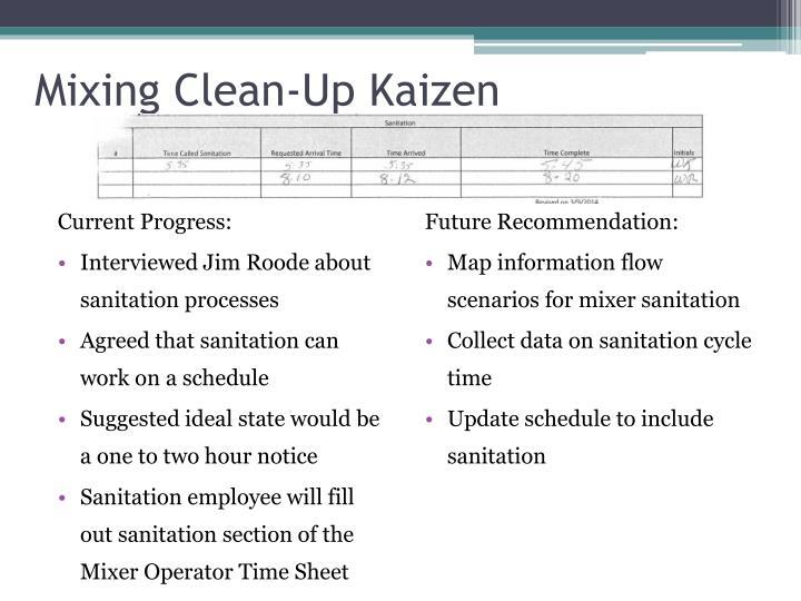 Mixing Clean-Up Kaizen