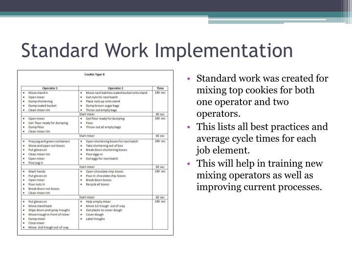 Standard Work Implementation