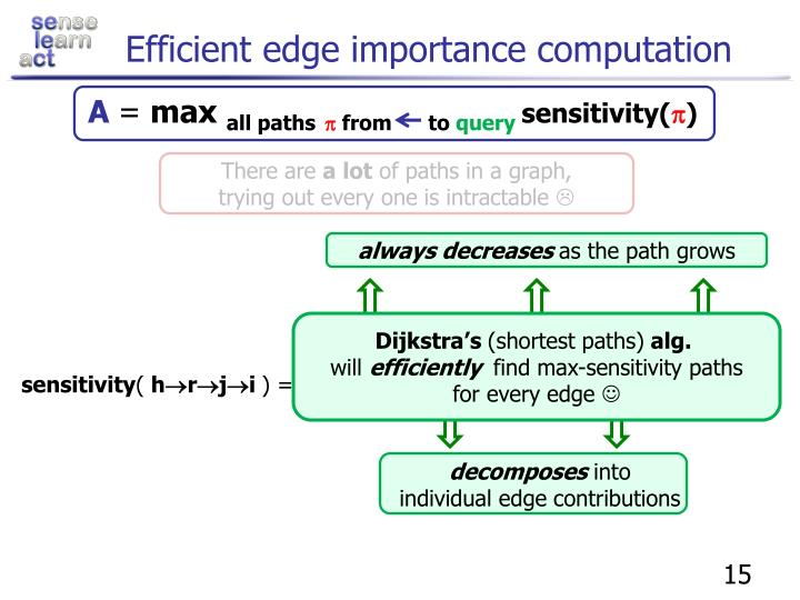 Efficient edge importance computation