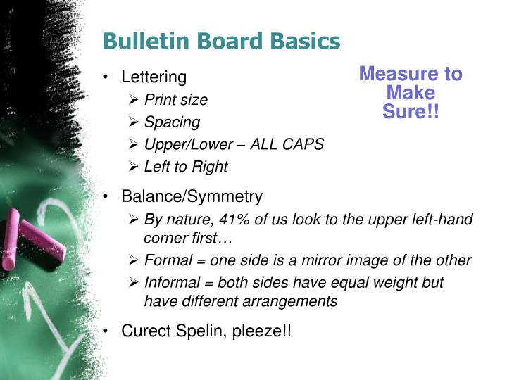 Bulletin Board Basics