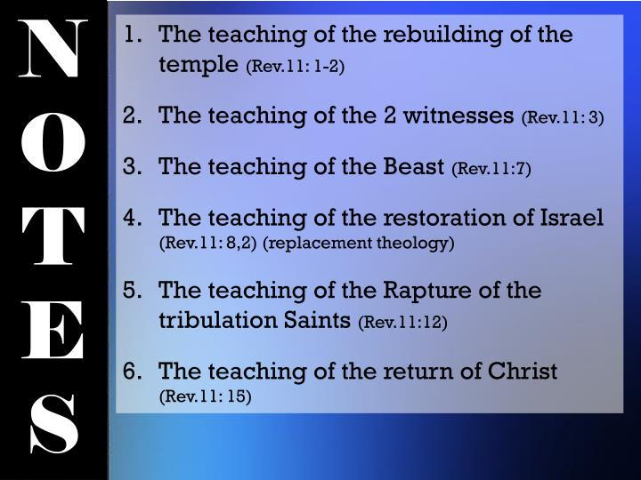 The teaching of the rebuilding of the temple