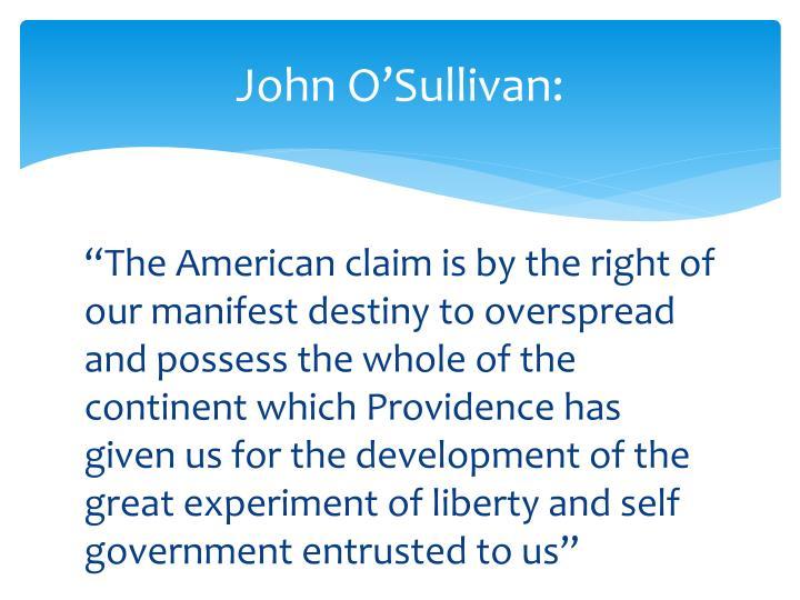 John O'Sullivan: