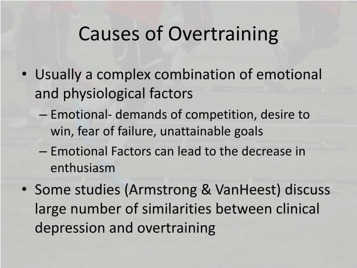 Causes of Overtraining