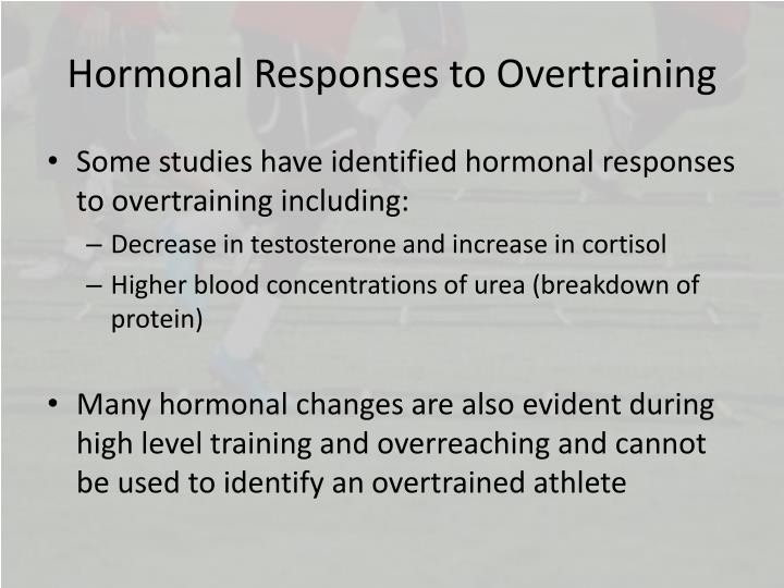 Hormonal Responses to Overtraining