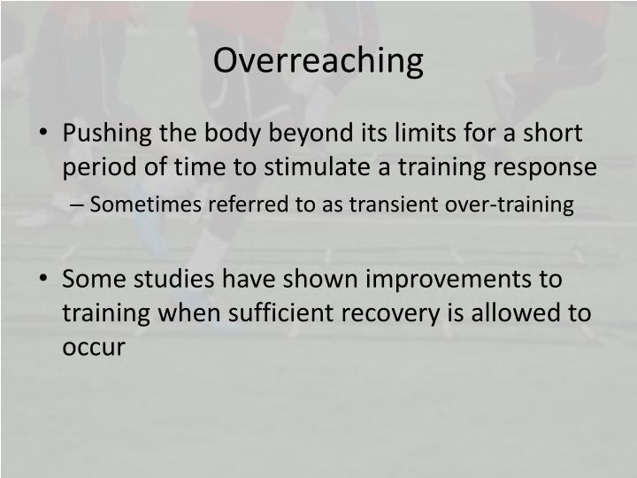 Overreaching