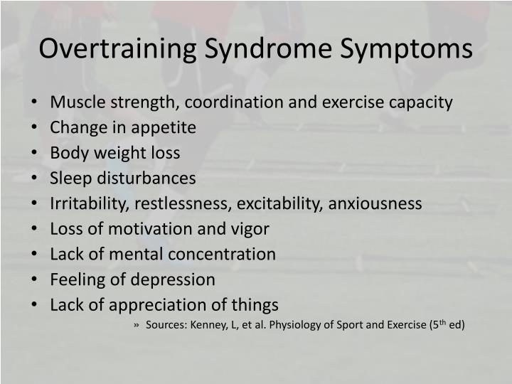 Overtraining Syndrome Symptoms