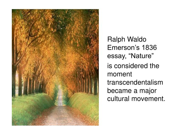 ralph waldo emerson essays analysis
