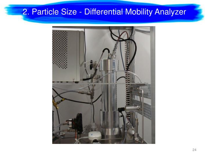 2. Particle Size - Differential Mobility Analyzer