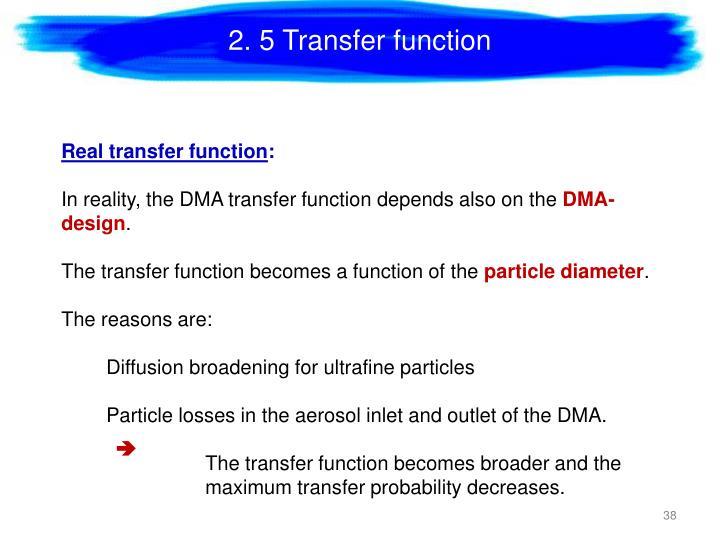 2. 5 Transfer function