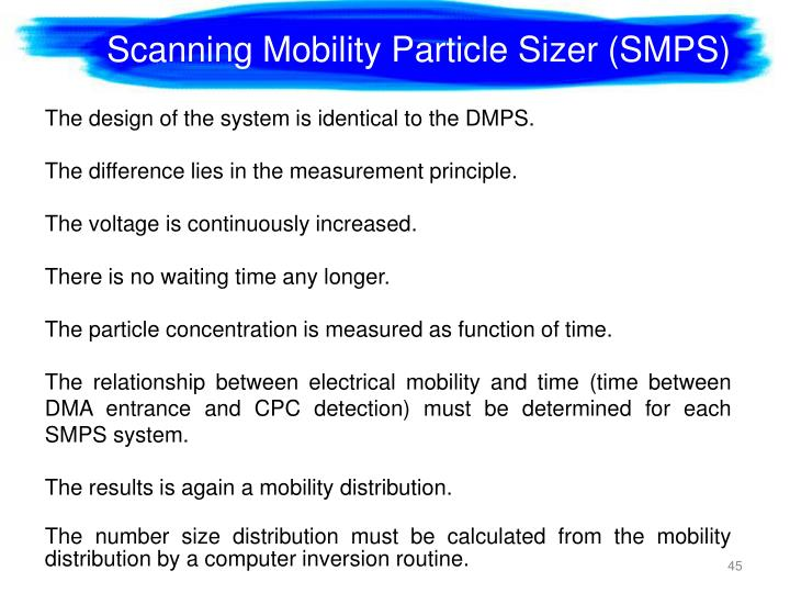 Scanning Mobility Particle