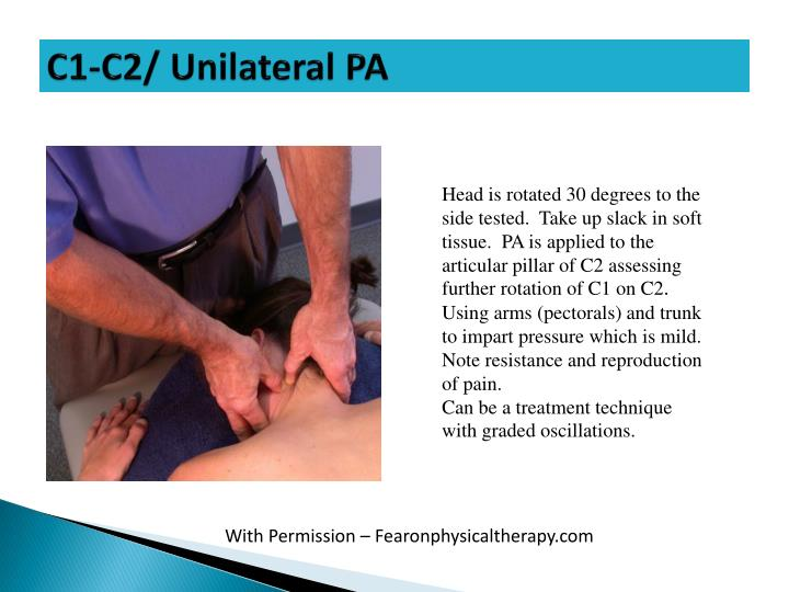 C1-C2/ Unilateral PA