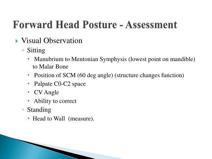 Forward Head Posture - Assessment