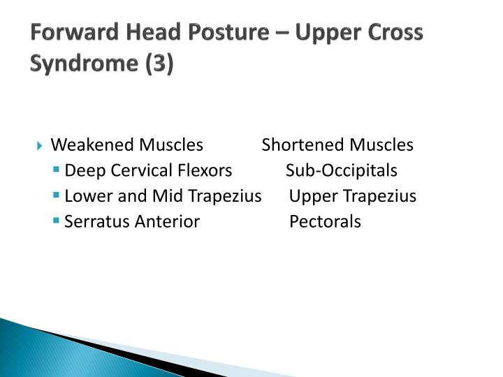 Forward Head Posture – Upper Cross Syndrome (3)