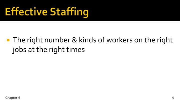 Effective Staffing