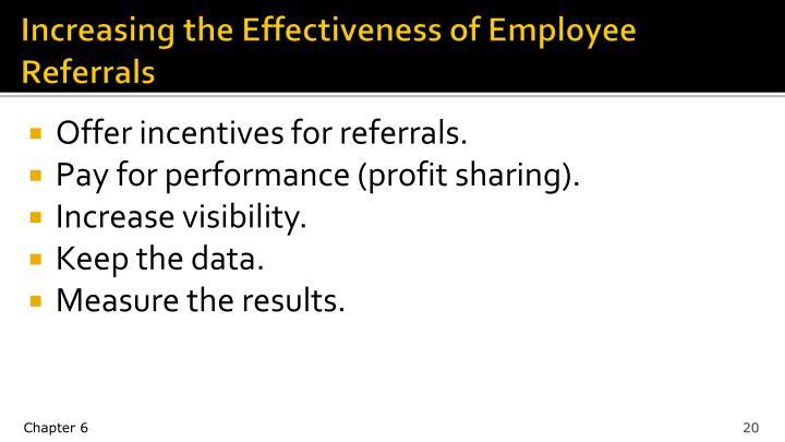 Increasing the Effectiveness of Employee Referrals