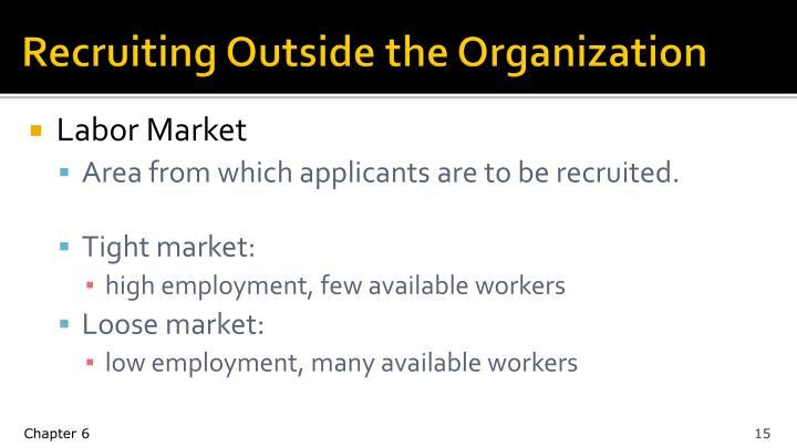 Recruiting Outside the Organization