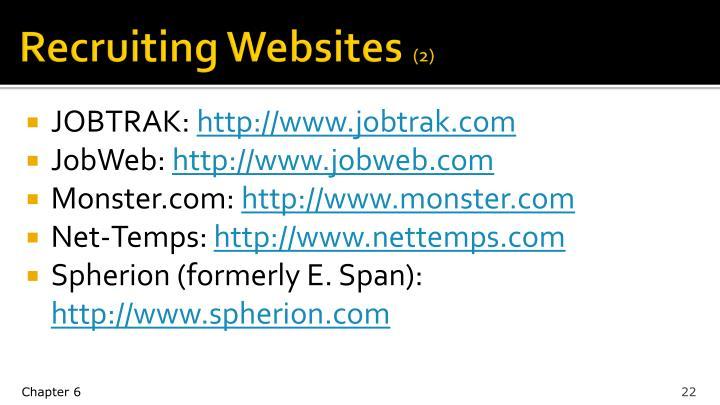Recruiting Websites