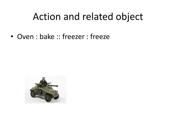 Action and related object