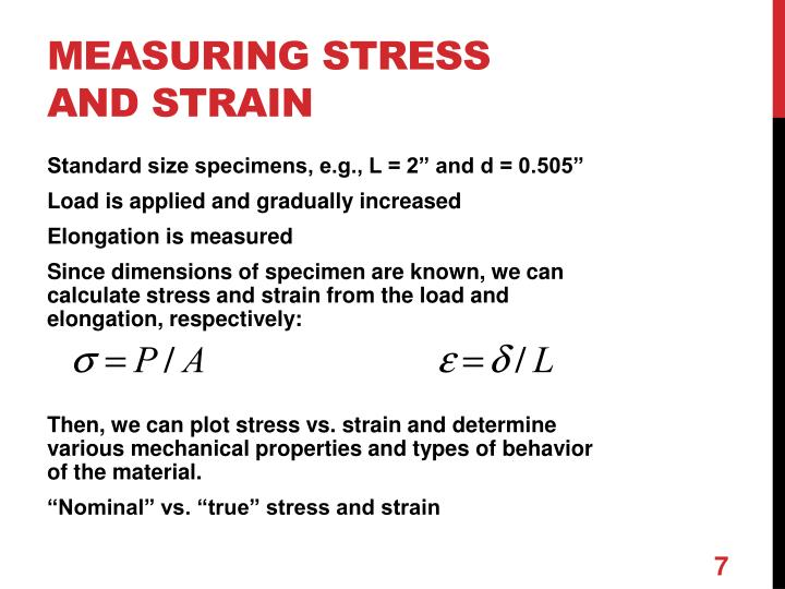 measuring stress and strain