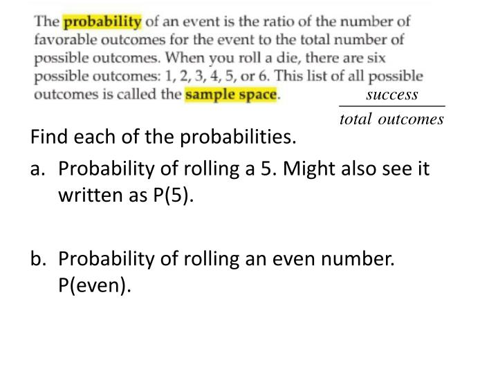 Find each of the probabilities.
