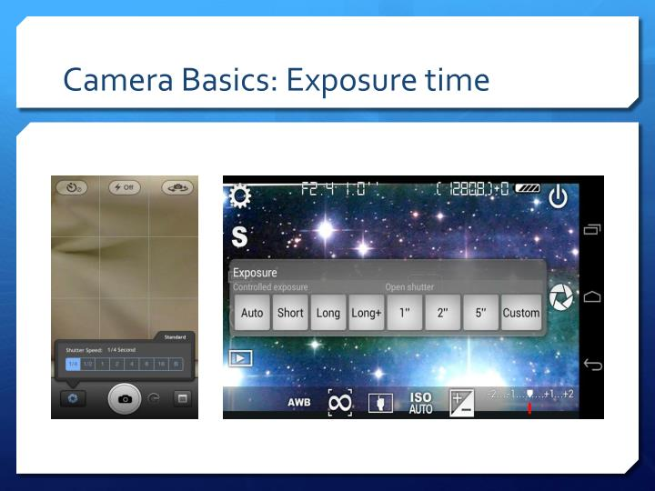 Camera basics exposure time