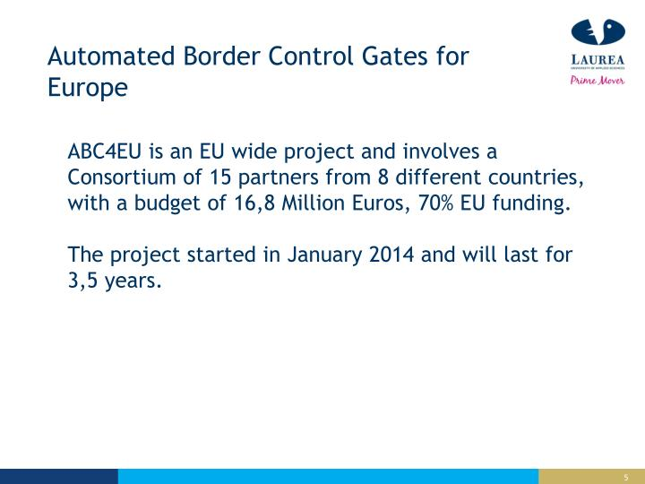 Automated Border Control Gates for Europe