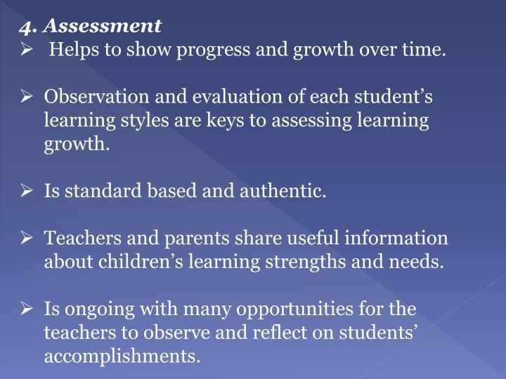4. Assessment