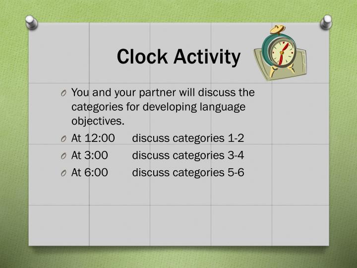 Clock Activity