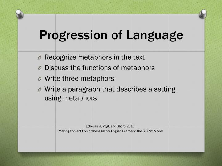 Progression of Language