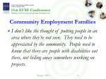 community employment families