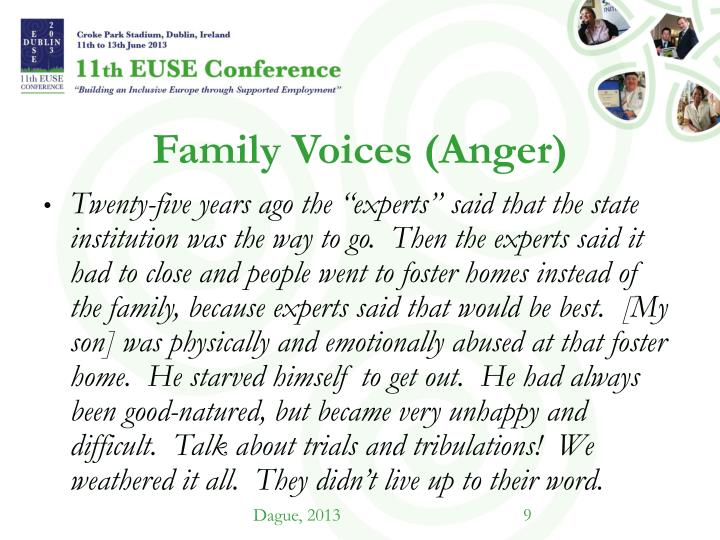 Family Voices (Anger)