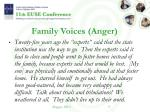 family voices anger
