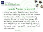family voices concern