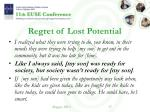 regret of lost potential1