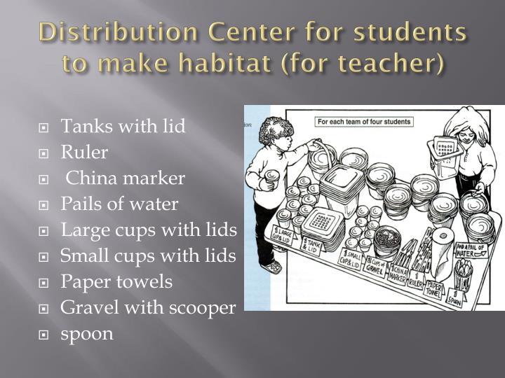 Distribution Center for students to make habitat (for teacher)
