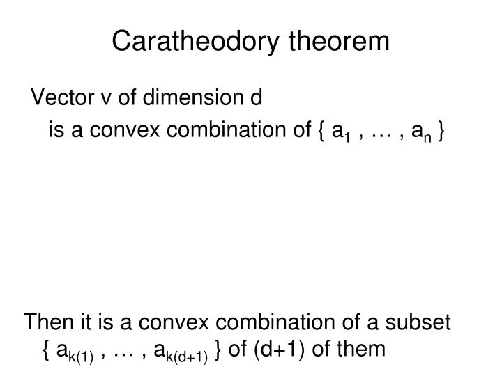 Caratheodory theorem