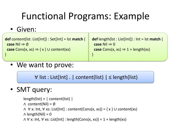 Functional Programs: Example